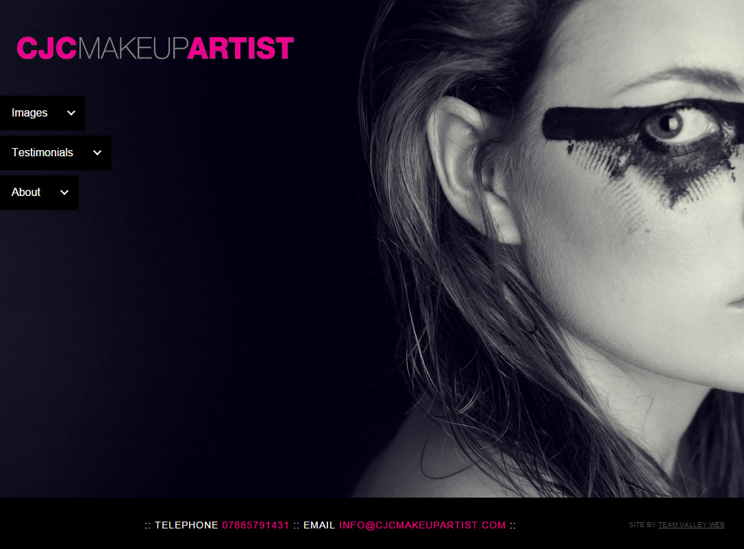 cjc makeup artist website