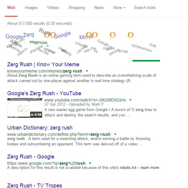 Google's New Easter Egg